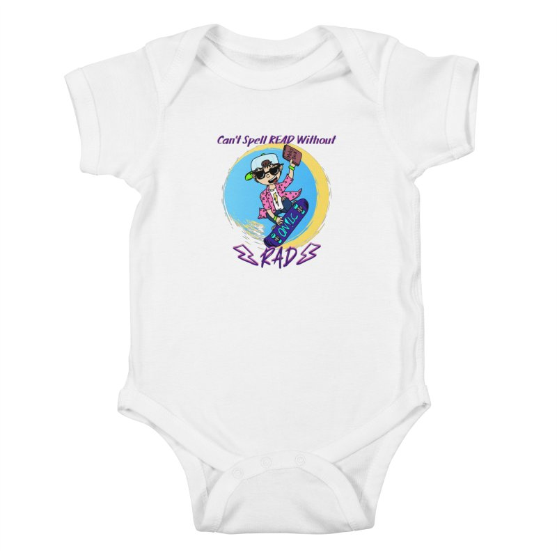 Reading is Radical! Kids Baby Bodysuit by Oh No! Lit Class Store