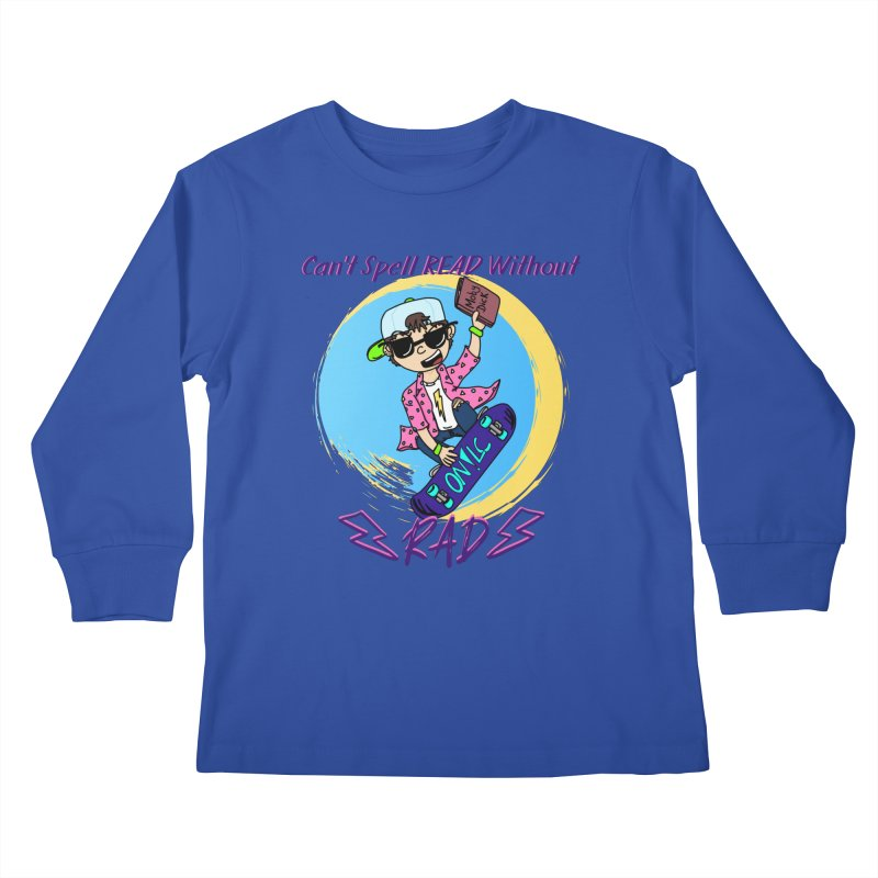 Reading is Radical! Kids Longsleeve T-Shirt by Oh No! Lit Class Store