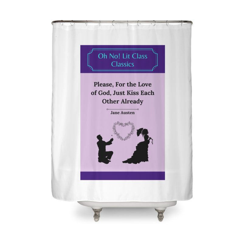 ON!LC Classics Pride and Prejudice Home Shower Curtain by Oh No! Lit Class Store
