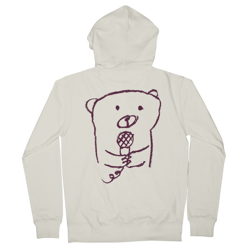 Rock Bear Women's Zip-Up Hoody by Ohufu