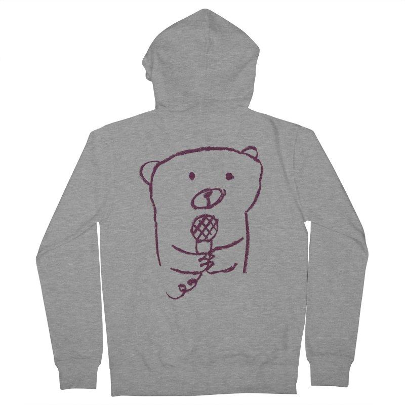 Rock Bear Men's Zip-Up Hoody by Ohufu