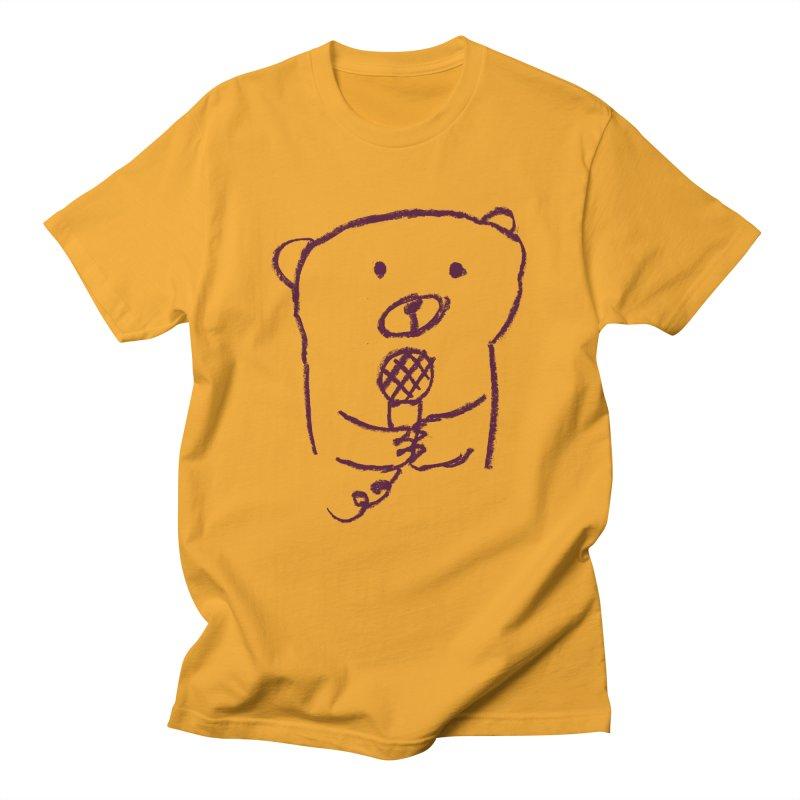 Rock Bear Men's T-shirt by Ohufu