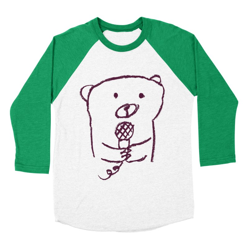 Rock Bear Women's Baseball Triblend T-Shirt by Ohufu