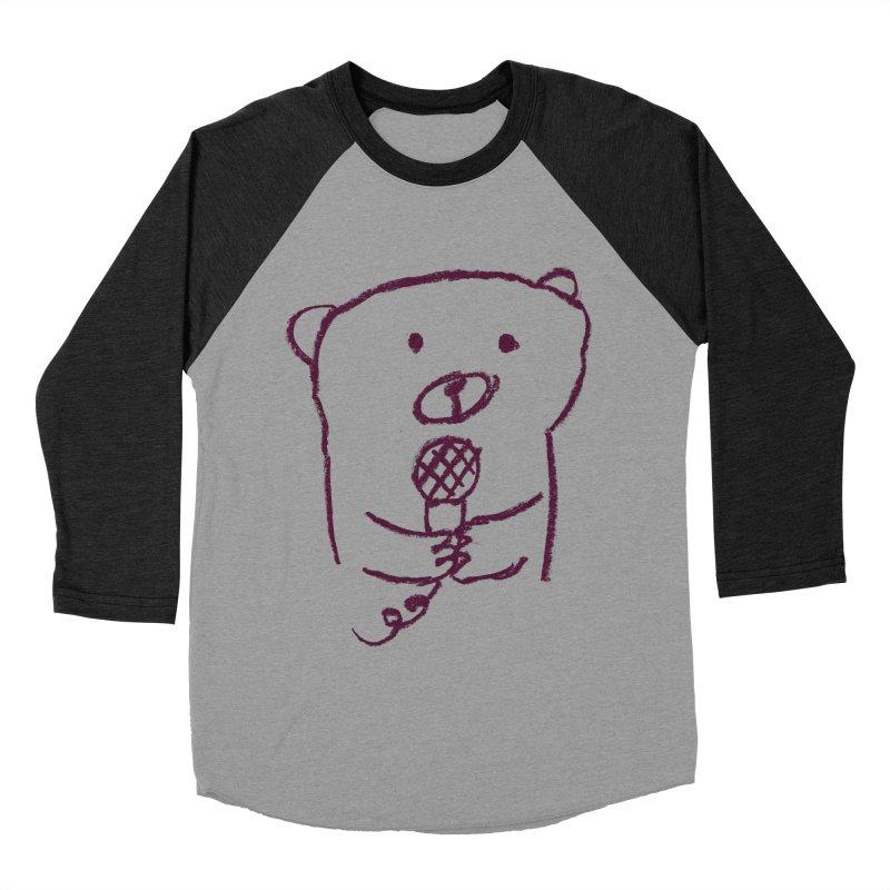 Rock Bear Men's Baseball Triblend T-Shirt by Ohufu