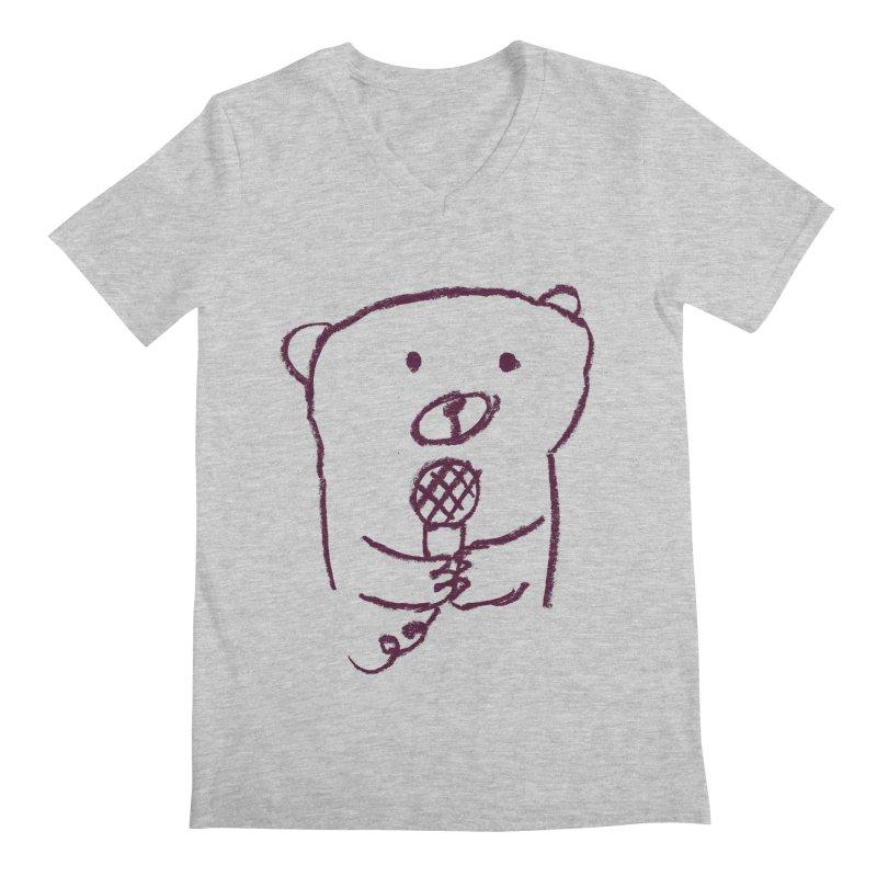 Rock Bear Men's V-Neck by Ohufu