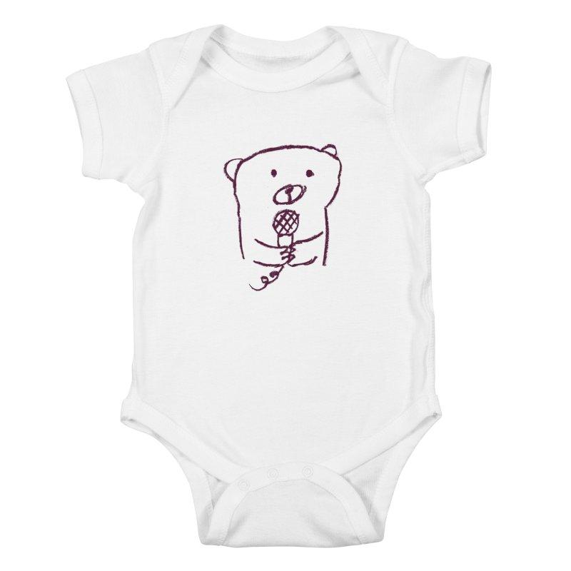 Rock Bear Kids Baby Bodysuit by Ohufu