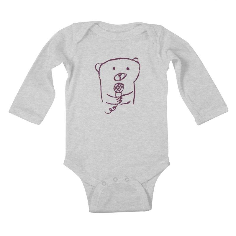 Rock Bear Kids Baby Longsleeve Bodysuit by Ohufu