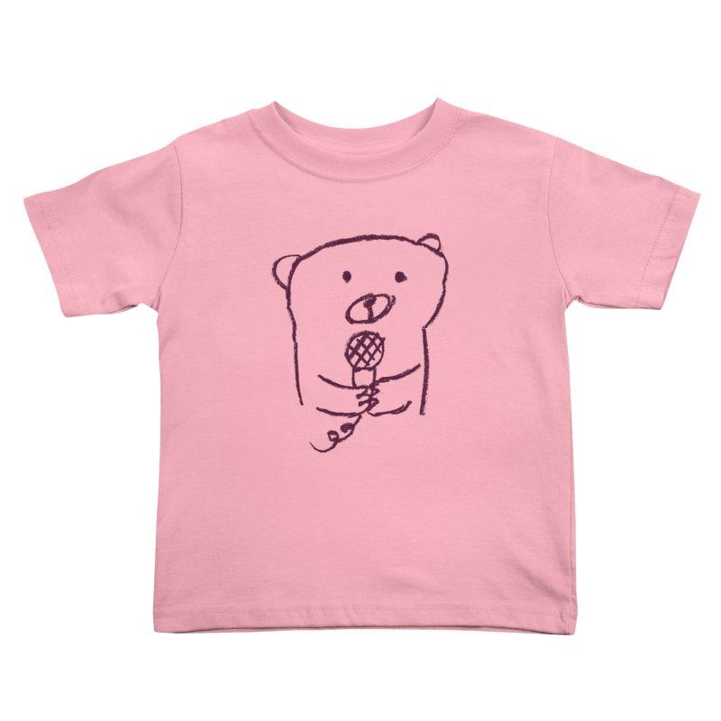 Rock Bear Kids Toddler T-Shirt by Ohufu