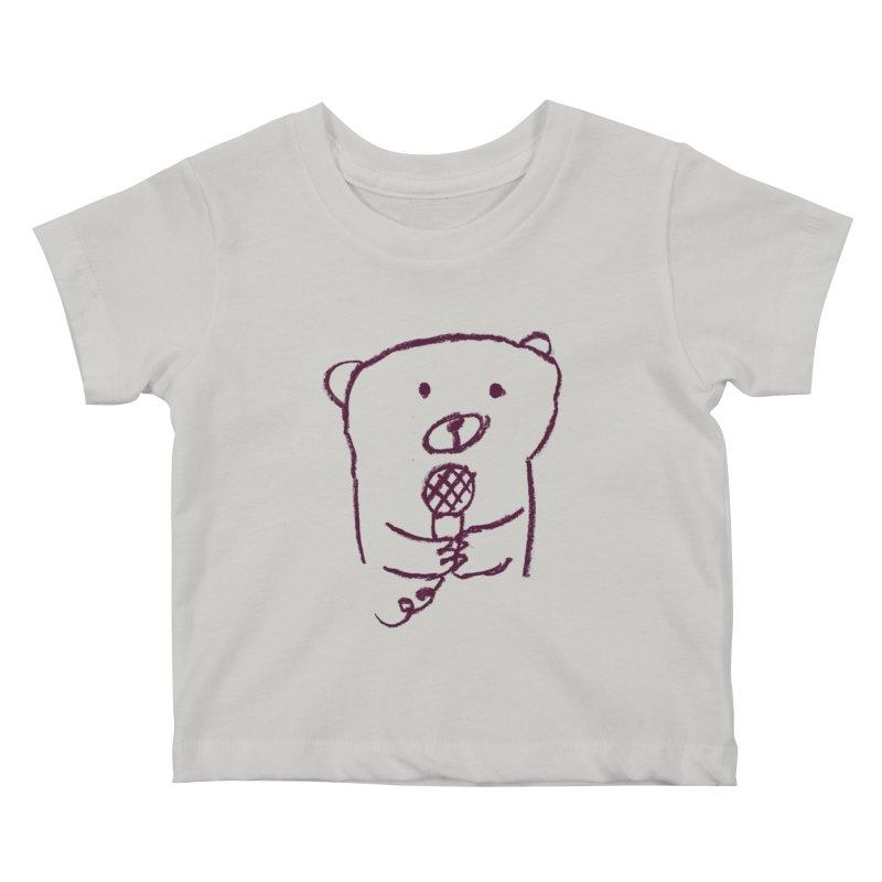 Rock Bear Kids Baby T-Shirt by Ohufu