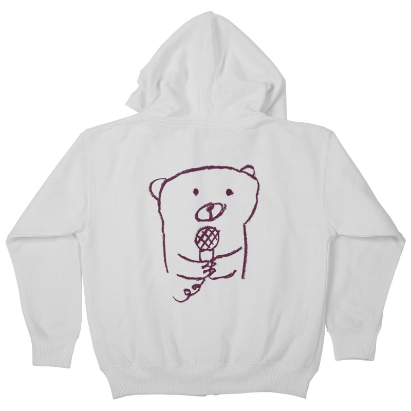 Rock Bear Kids Zip-Up Hoody by Ohufu