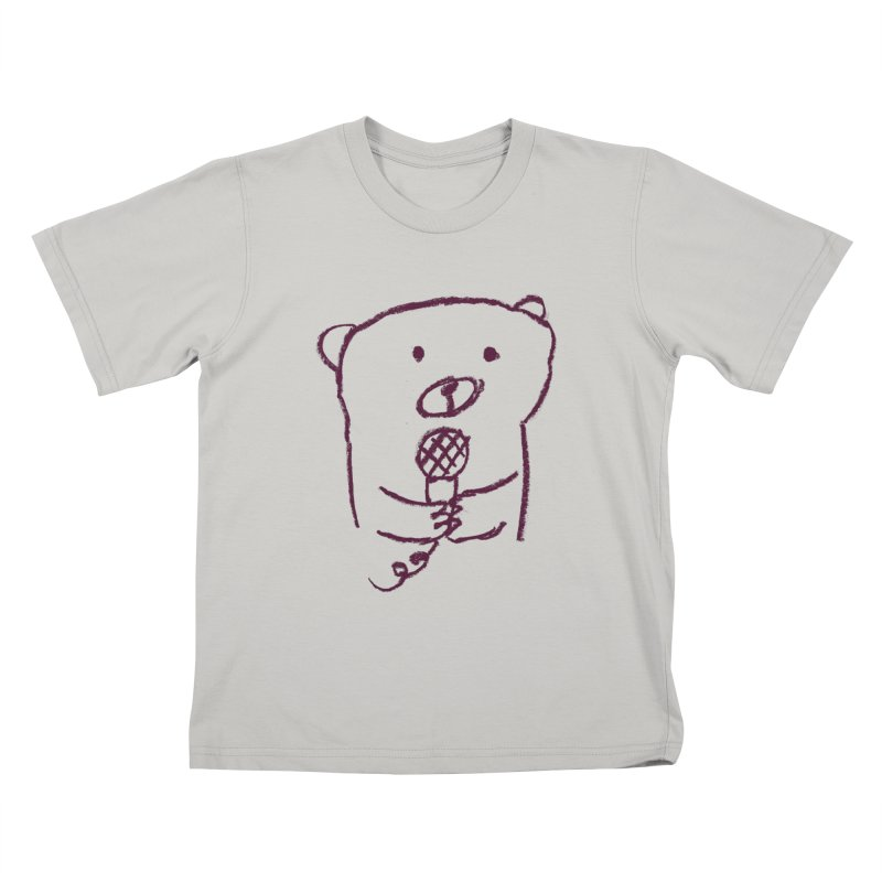 Rock Bear Kids T-shirt by Ohufu