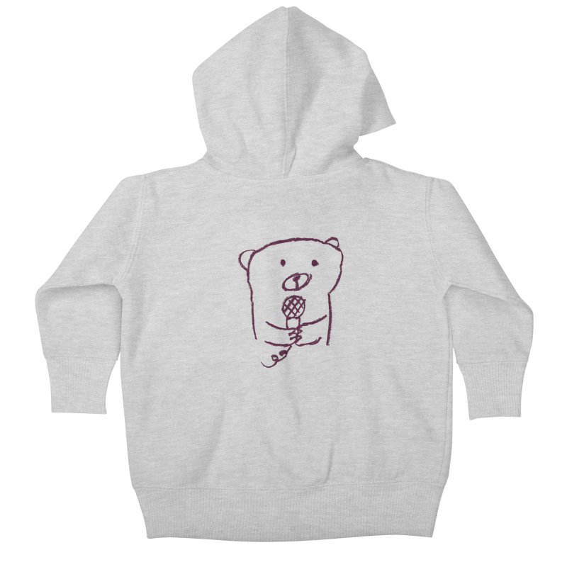 Rock Bear Kids Baby Zip-Up Hoody by Ohufu