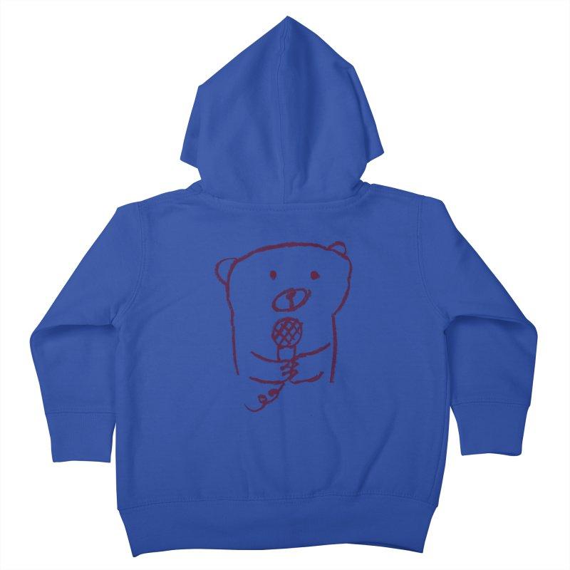 Rock Bear Kids Toddler Zip-Up Hoody by Ohufu
