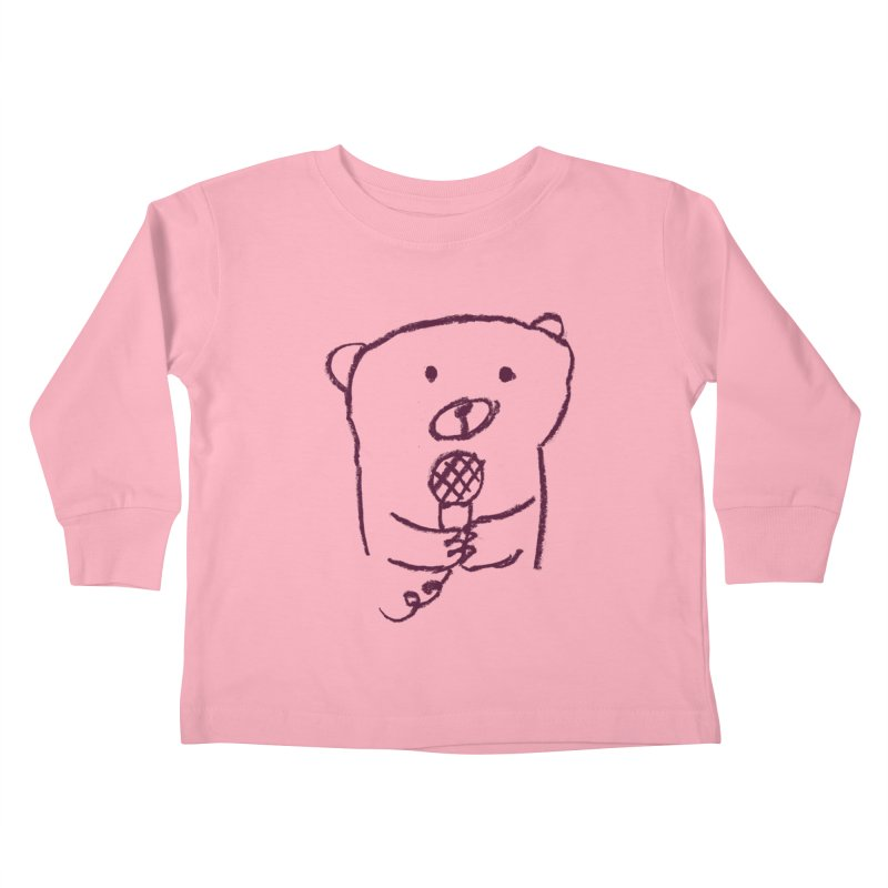 Rock Bear Kids Toddler Longsleeve T-Shirt by Ohufu