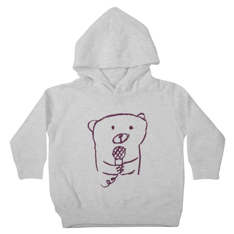 Rock Bear Kids Toddler Pullover Hoody by Ohufu