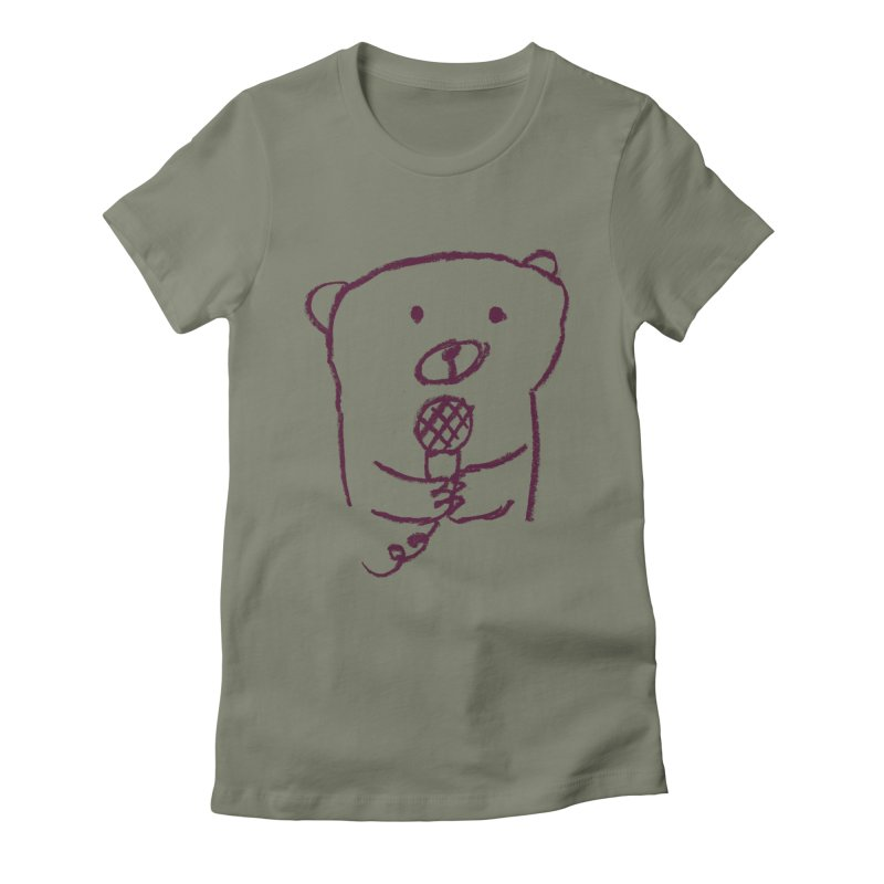 Rock Bear Women's Fitted T-Shirt by Ohufu