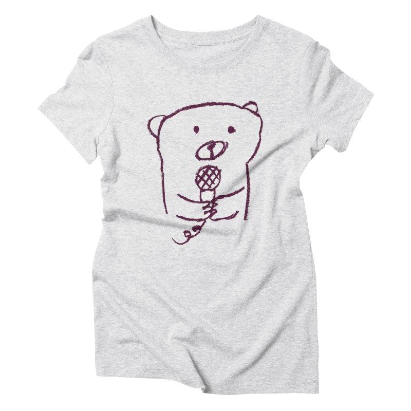 Rock Bear Women's Triblend T-Shirt by Ohufu