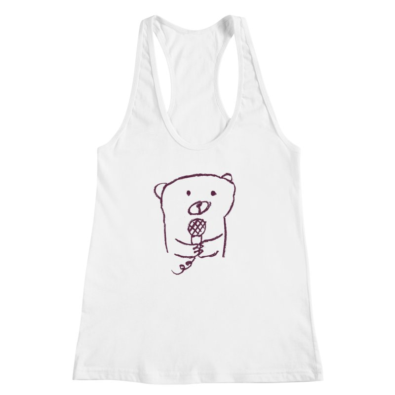 Rock Bear Women's Racerback Tank by Ohufu