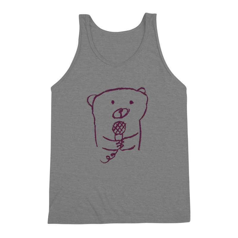Rock Bear Men's Triblend Tank by Ohufu