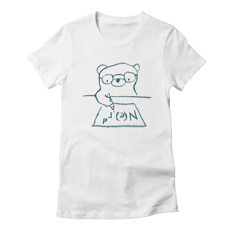 NERD Women's Fitted T-Shirt by Ohufu