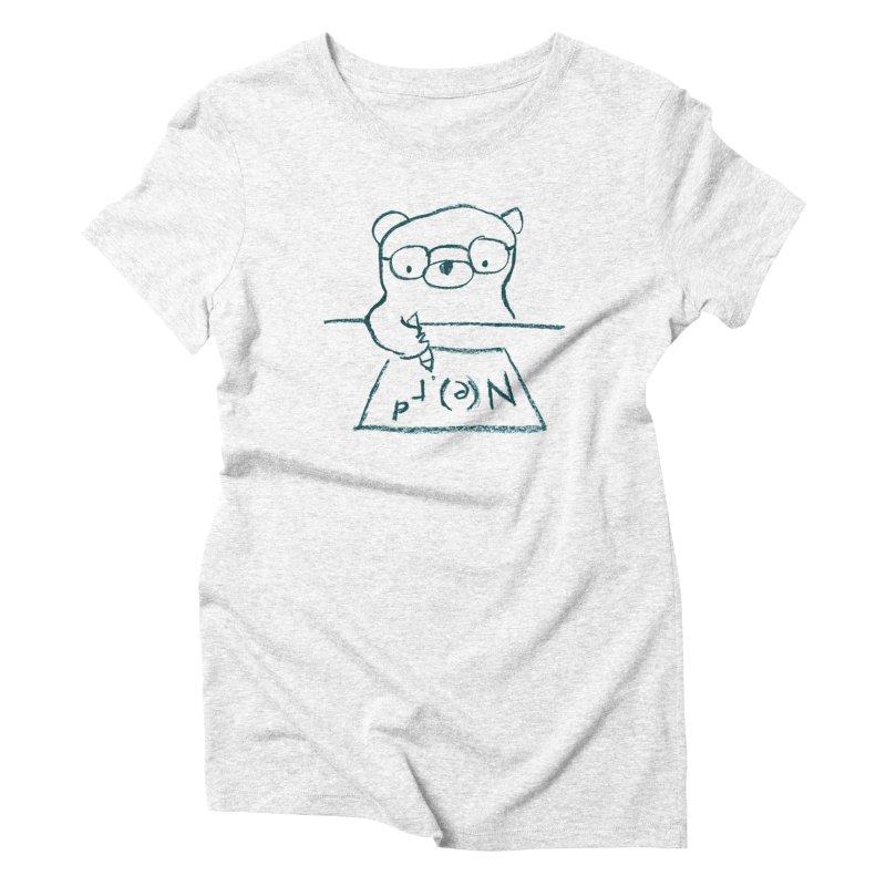 NERD Women's Triblend T-shirt by Ohufu