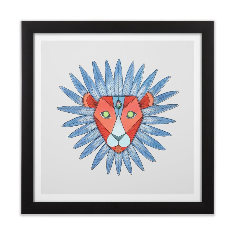 STRENGTH Home Framed Fine Art Print by OH YEAH by Amalia