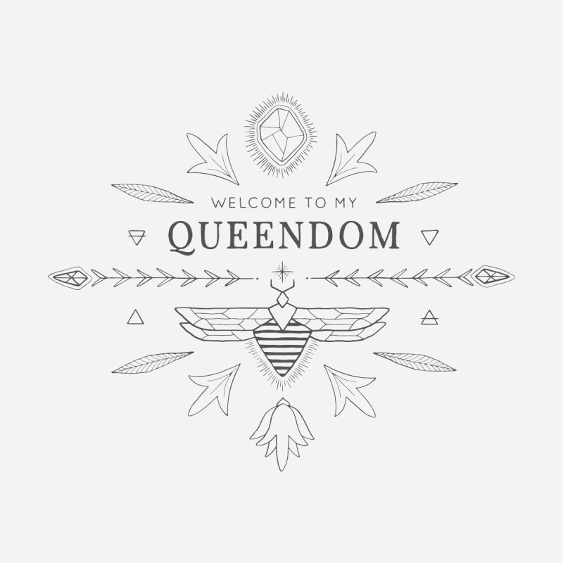 QUEENDOM grey on light Women's T-Shirt by OH YEAH by Amalia