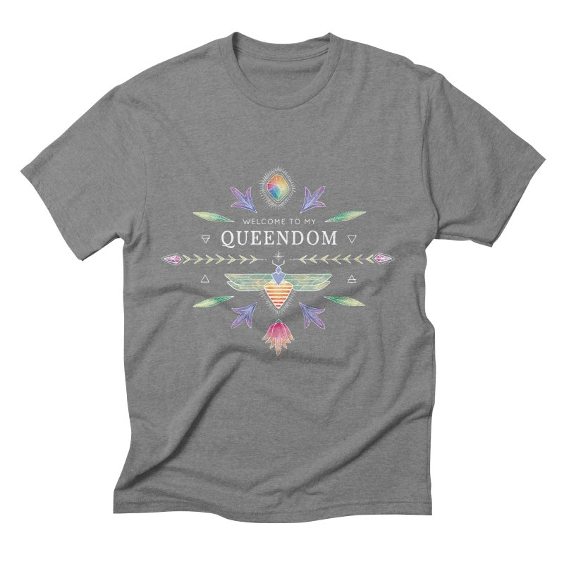 QUEENDOM color on dark Men's Triblend T-shirt by OH YEAH by Amalia