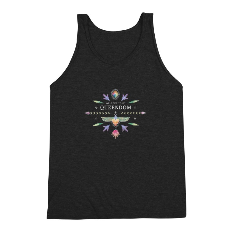 QUEENDOM color on dark Men's Triblend Tank by OH YEAH by Amalia