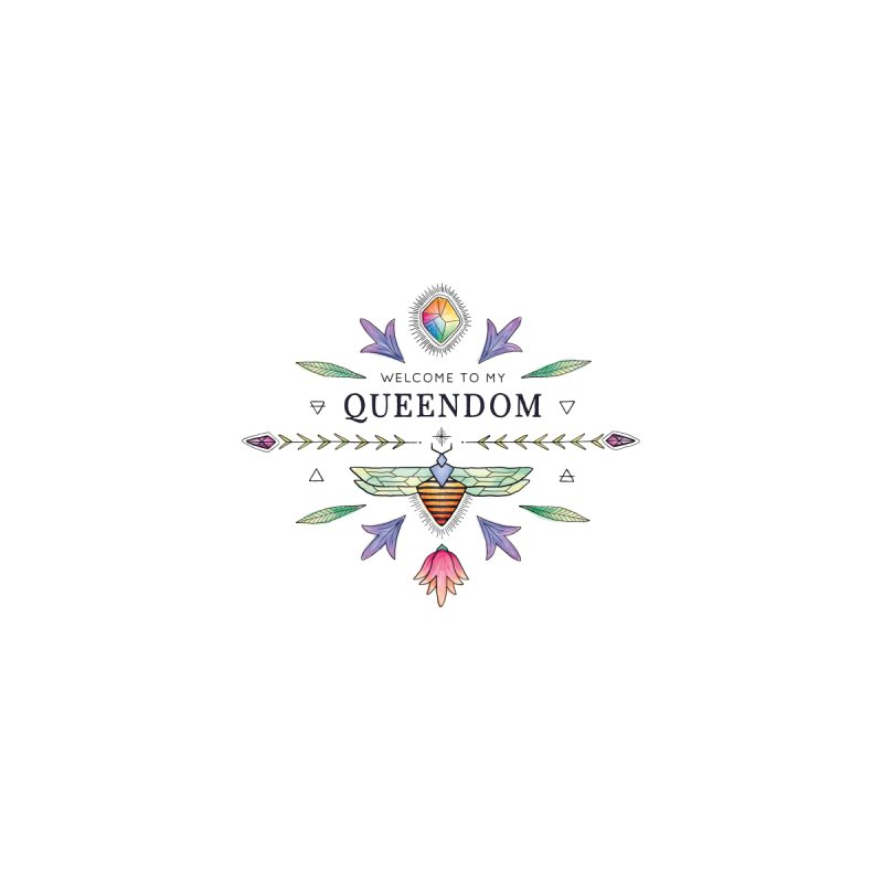 QUEENDOM poster Home Framed Fine Art Print by OH YEAH by Amalia