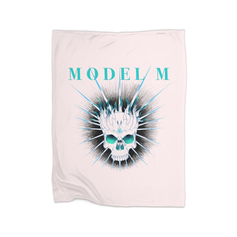 Model M - Evil (Colour) Home Blanket by Oh Just Peachy Studios Music Store