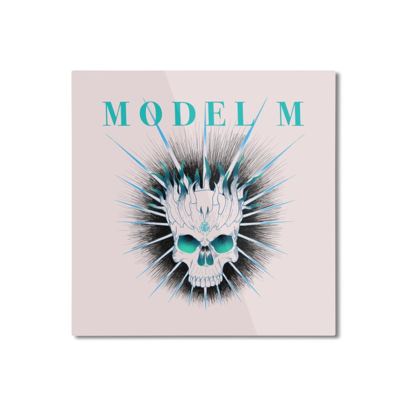 Model M - Evil (Colour) Home Mounted Aluminum Print by Oh Just Peachy Studios Music Store