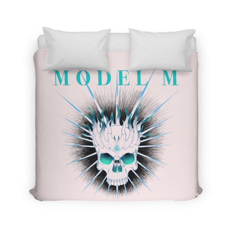 Model M - Evil (Colour) Home Duvet by Oh Just Peachy Studios Music Store