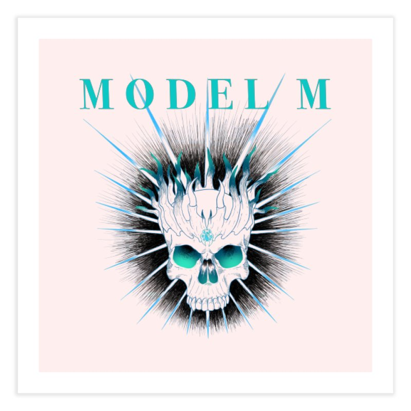 Model M - Evil (Colour) Home Fine Art Print by Oh Just Peachy Studios Music Store