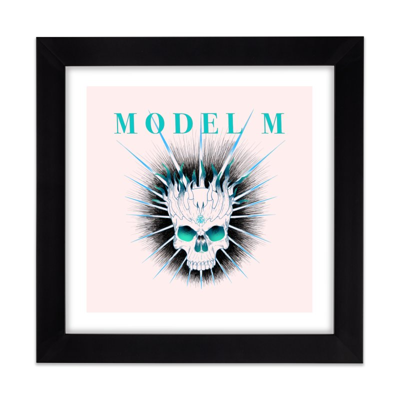 Model M - Evil (Colour) Home Framed Fine Art Print by Oh Just Peachy Studios Music Store