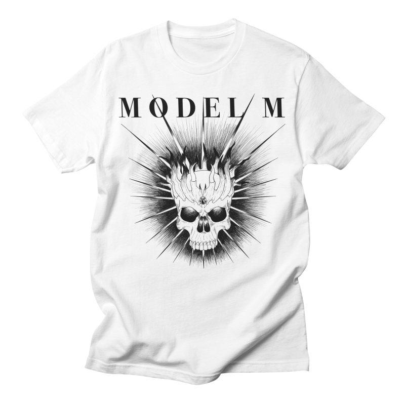Model M - Evil (Black) Men's T-Shirt by Oh Just Peachy Studios Music Store