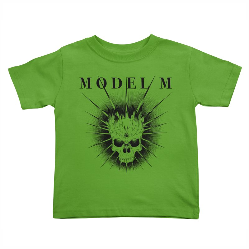 Model M - Evil (Black) Kids Toddler T-Shirt by Oh Just Peachy Studios Music Store