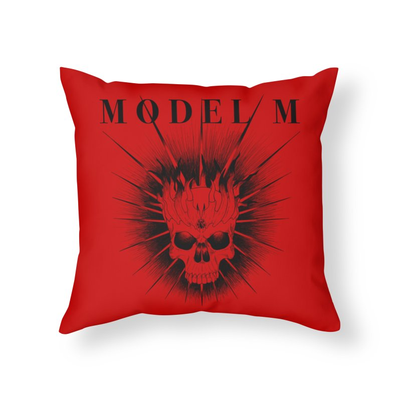 Model M - Evil (Black) Home Throw Pillow by Oh Just Peachy Studios Music Store