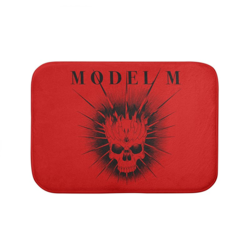 Model M - Evil (Black) Home Bath Mat by Oh Just Peachy Studios Music Store