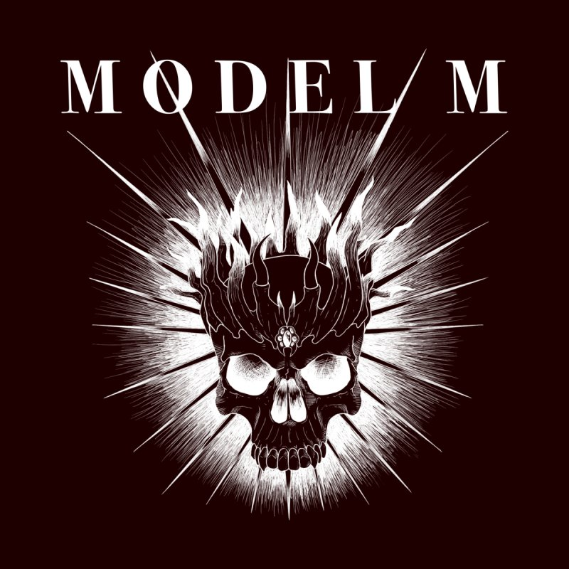 Model M - Evil (white) Accessories Greeting Card by Oh Just Peachy Studios Music Store