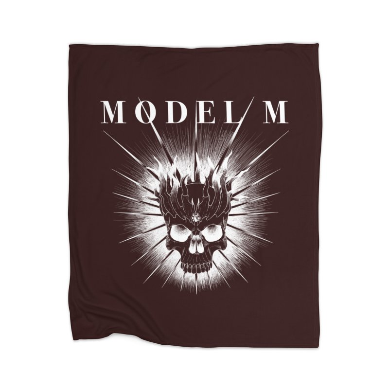 Model M - Evil (white) Home Blanket by Oh Just Peachy Studios Music Store