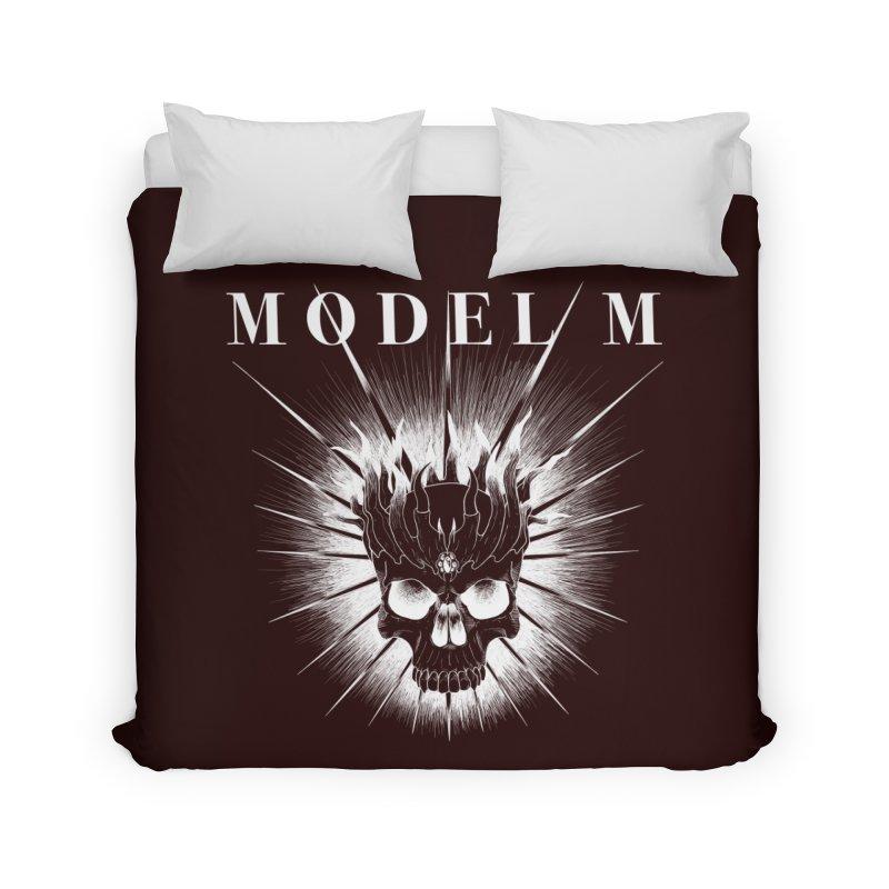 Model M - Evil (white) Home Duvet by Oh Just Peachy Studios Music Store