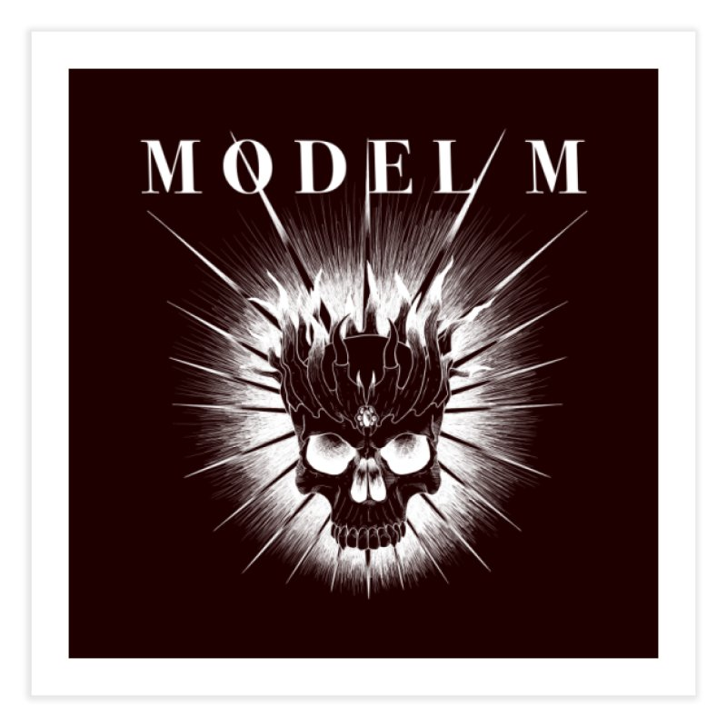 Model M - Evil (white) Home Fine Art Print by Oh Just Peachy Studios Music Store
