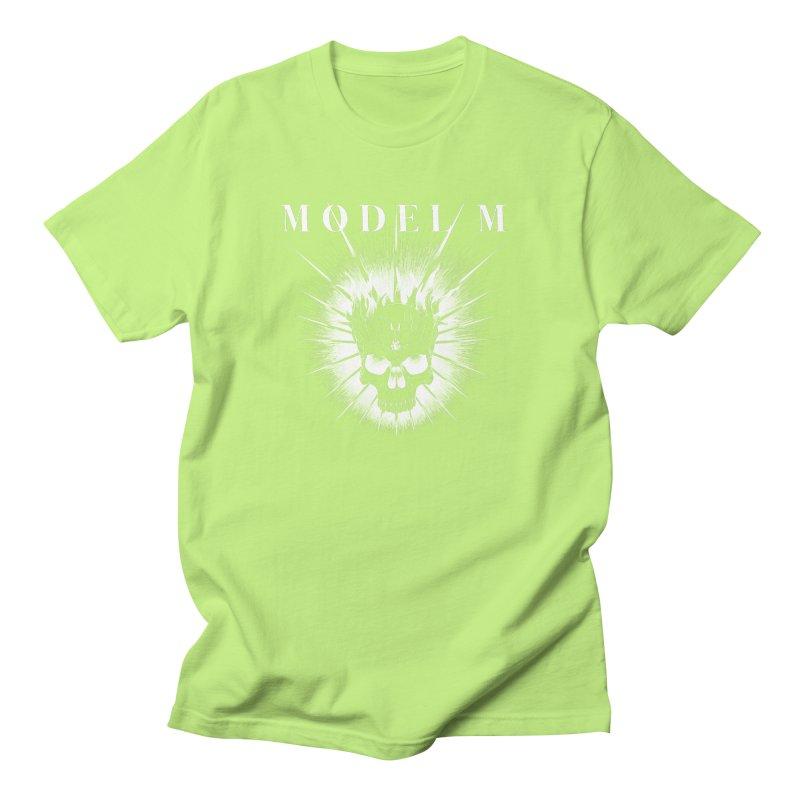 Model M - Evil (white) Men's T-Shirt by Oh Just Peachy Studios Music Store