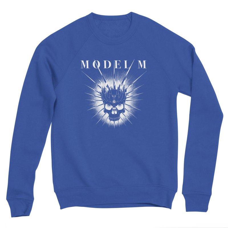Model M - Evil (white) Men's Sweatshirt by Oh Just Peachy Studios Music Store