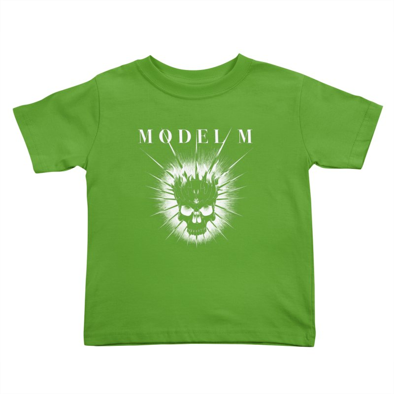 Model M - Evil (white) Kids Toddler T-Shirt by Oh Just Peachy Studios Music Store