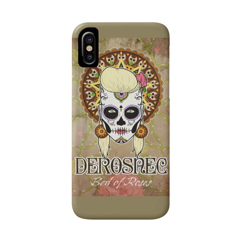 DEROSNEC - Bed of Roses, Muerta (Color) Accessories Phone Case by Oh Just Peachy Studios Music Store