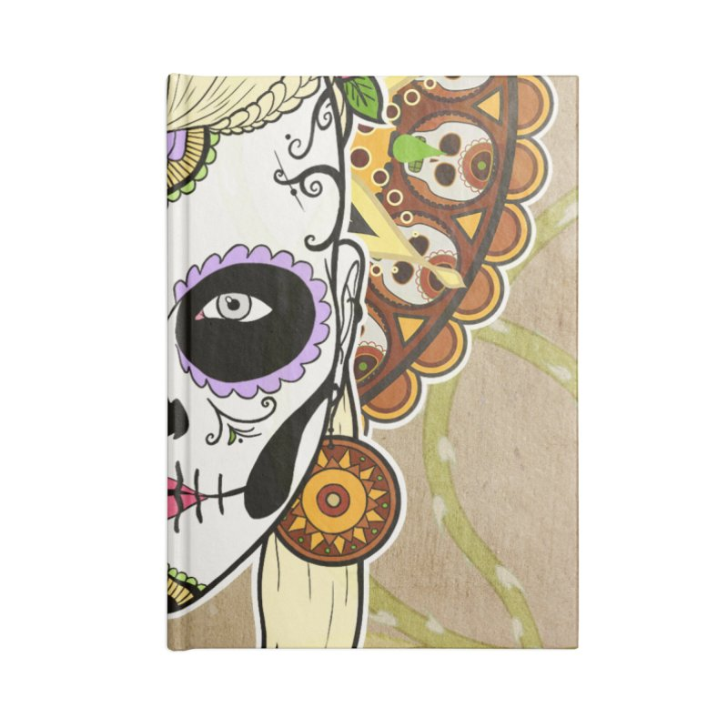 DEROSNEC - Bed of Roses, Muerta (Color) Accessories Lined Journal Notebook by Oh Just Peachy Studios Music Store