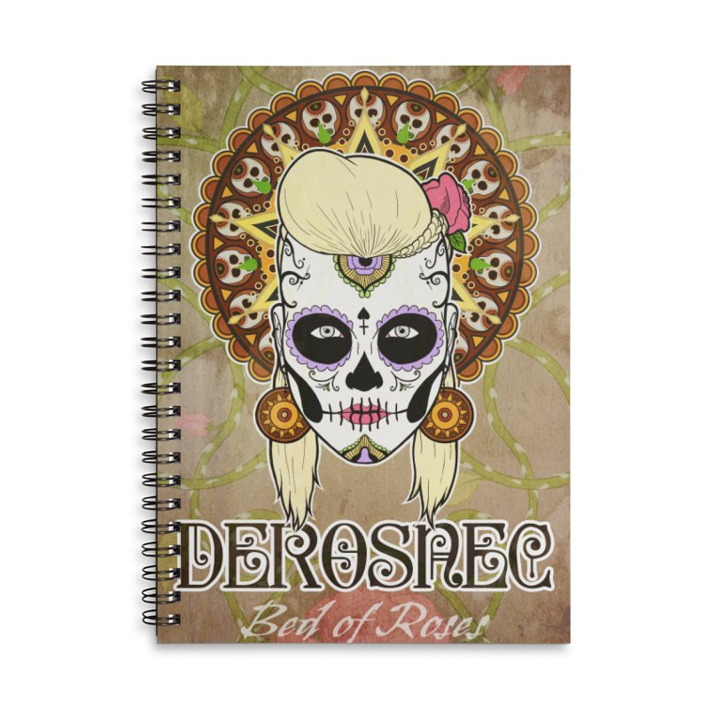 DEROSNEC - Bed of Roses, Muerta (Color) Accessories Lined Spiral Notebook by Oh Just Peachy Studios Music Store