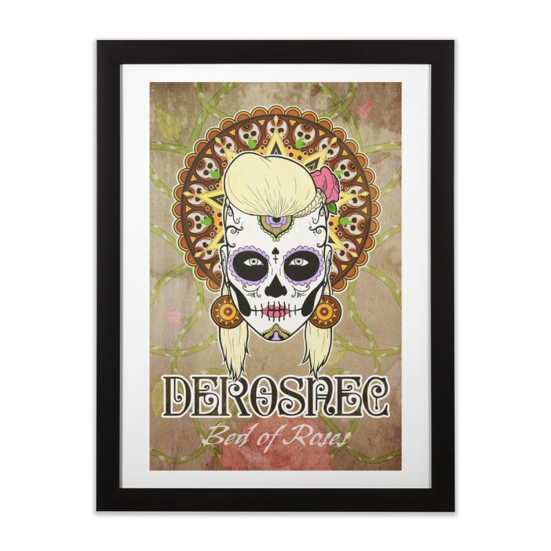 DEROSNEC - Bed of Roses, Muerta (Color) Home Framed Fine Art Print by Oh Just Peachy Studios Music Store